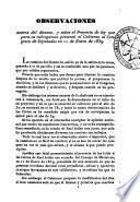 Observaciones acerca del diezmo, y sobre el Proyecto de ley que para su subrogacion presentó el Gobierno al Congreso de los Diputados el 11 de Enero de 1839