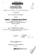 Observaciones acerca del método que debe emplearse en el estudio de la ciencia del derecho seguidas del programa de ampliación de derecho civil...
