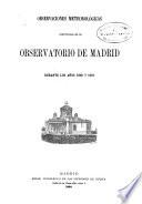 Observaciones meteorologicas efectuadas en el Observatorio de Madrid