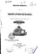 Observaciones meteorológicas efectuadas en el Observatorio de Madrid