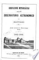 Observaciones meteorolójicas ... en el año ...