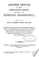 Observaciones pacíficas sobre la potestad eclesiástica: (1822. 456, [35] p.)