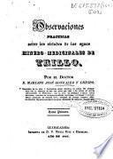 Observaciones prácticas sobre las virtudes de las aguas minero-medicinales de Trillo