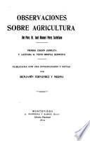 Observaciones sobre agricultura del pbro. dr. José Manuel Pérez Castellano