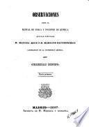 Observaciones sobre el Manual de física y nociones de química que han publicado Manuel Rico y Mariano Santisteban