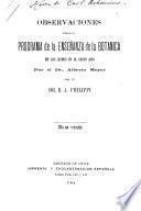 Observaciones sobre el programa de la Enseñanza de la botánica en los liceos en el sesto año por Alberto Meyer