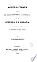 Observaciones sobre el tomo segundo de la historia de la guerra de España que escribió en inglés el teniente coronel Napier