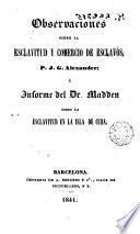 Observaciones sobre la esclavitud y comercio de eslcavos