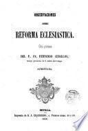 Observaciones sobre Reforma Ecclesiástica