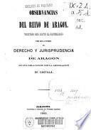 Observancias del Reino de Aragón