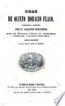 Odas de Quinto Horacio Flaco, traducidas y anotadas por D. Joaquin Escriche ..