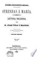 Ofrendas a Maria