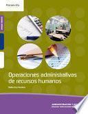 OPERACIONES ADMINISTRATIVAS RECURSOS HUMANOS GM