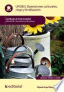 Operaciones culturales, riego y fertilización. AGAH0108
