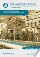 Operatividad con sistemas mecánicos, hidráulicos, neumáticos y eléctricos de máquinas e instalaciones para la transformación de polímeros y su mantenimiento. QUIT0209