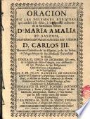 Oración en las exequias de Da Maria Amalia de Saxonia