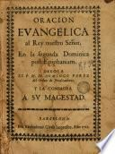 Oracion evangelica al rey nuestro señor, en la segunda dominica post Epiphaniam