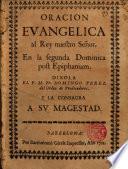 Oracion Evangelica al Rey nuestro Señor,En la segunda Dominica post Epiphaniam