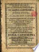 Oracion Evangelica de la Purissima Concepcion de Maria Santissima S.N