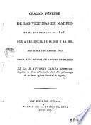 Oracion fúnebre de las víctimas de Madrid en el dos de mayo de 1808