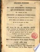 Oracion Fúnebre que en las solemnes ecsequias que los...Párrocos del Obispado de Vich consagraron á la memoria de su difunto predicador el Ilmo.Sor D.D. Fr.Raimundo Strauch y Vidal...el dia 14 de Junio de 1824
