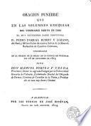 Oracion funebre que en las solemnes exequias del venerable siervo de Dios...Pedro Pasqual Rubert y Lozano...En la Iglesia de su orden de la Ciudad de Valencia dia 16 de diciembre de 1813...