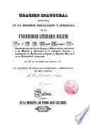 Oración inaugural pronunciada en la solemne instalación y apertura de la Universidad Literaria Balear por el Dr. D. Miguel Moragues, Pbro. ... día 22 nov. de 1840
