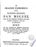 Oracion panegirica del glorioso arcangel San Miguel