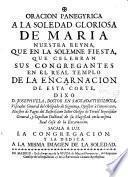Oración Panegyrica a la Soledad de Maria Na Sa ... Joseph Vela