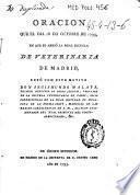 Oracion que el dia 18 de octubre de 1793 en que se abrio la Real Escuela de Veterinaria de Madrid