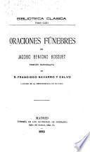 Oraciones fúnebres de Jacobo Benigno Bossuet