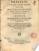 Oráculos de la Santa Sede a favor de las almas del purgatorio y del voto de redimirlas sin obligación a pecado