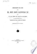 Ordenamiento de leyes que el Rey Don Alfonso XI hizo en las Córtes de Alcalá de Henares en la era de MCCCLXXXVI (año 1348)
