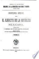 Ordenanza general para el ejército de la República Mexicana