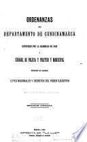 Ordenanzas del Departamento de Cundinamarca