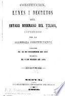 Ordenanzas expedidas por la Asamblea del Tolima en sus sesiones ordinarias