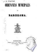 Ordenanzas municipales de Barcelona