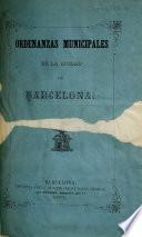 Ordenanzas municipales de la ciudad de Barcelona