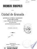 Ordenanzas municipales de la ciudad de Granada