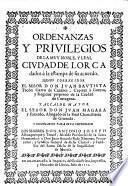 Ordenanzas y privilegios de la mvy noble, y leal civdad de Lorca dados à la estampa de su acuerdo