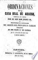 Ordinaciones de la Casa Real de Aragon
