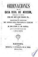 Ordinaciones de la casa real de Argon