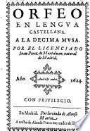 Orfeo En Lengua Castellana