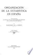 Organización de la estadística en España