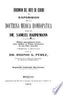 Organon del arte de curar o exposición de la doctrina médica homeopática