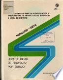 Oribadru-siepa Lista de Ideas de Proyecto for Estado