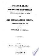 Orientales. Coleccion de poesias traducidas del arabigo en verso castellano