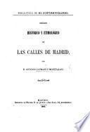 Orígen histórico y etimológico de las calles de Madrid