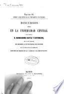 Origen y juicio crítico de los testamentos por comisario : Discurso leídos en la Universidad Central
