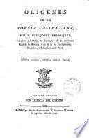 Origenes de la poesia Castellana